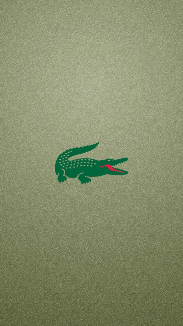 Lacoste Logo Background for smartphone HD 640x1136