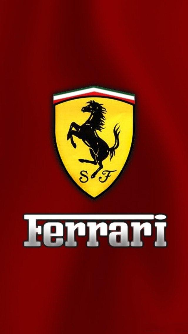 Ferrari Logo, Luxury Car, 640x1136