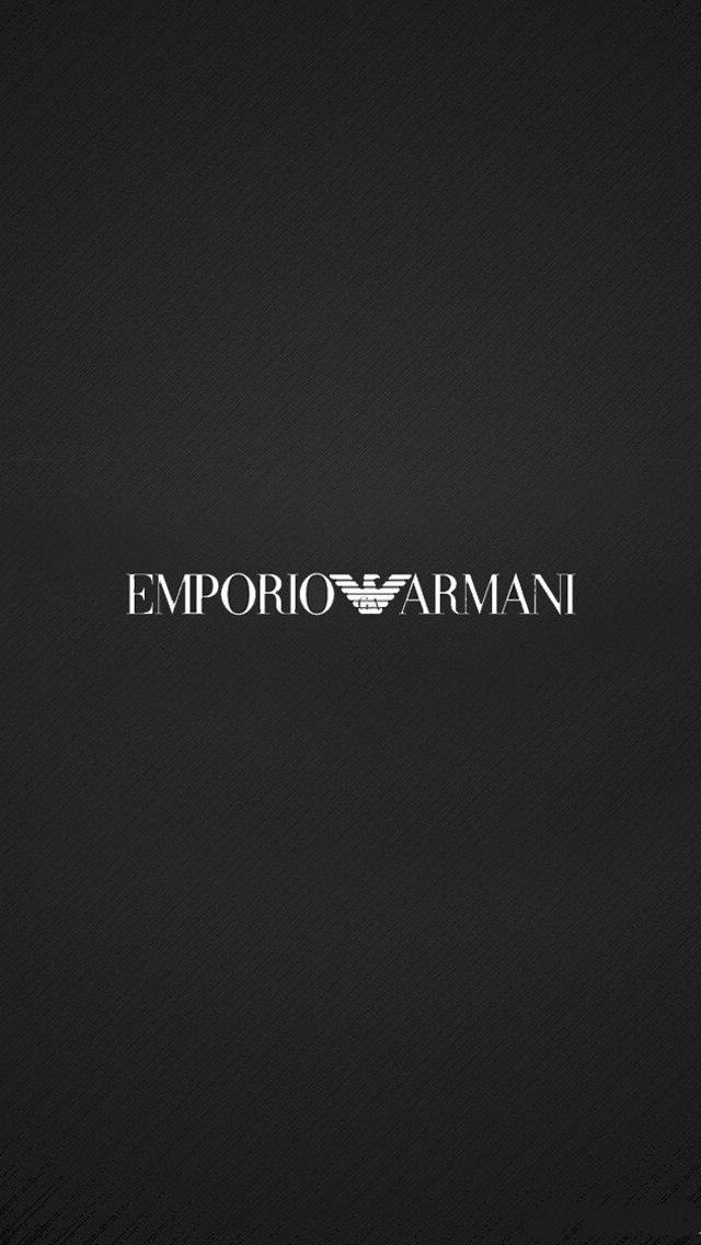 Emporio Armani logo full size smartphone background 640x1136