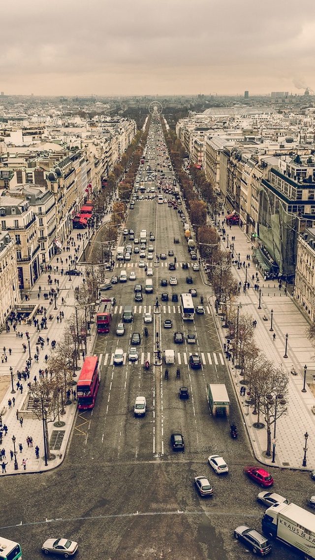 Paris Street iPhone 5 wallpaper 640*1136