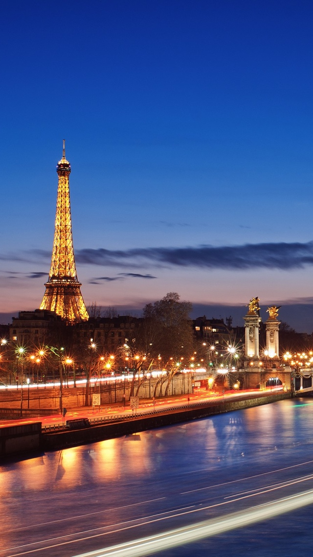 Paris Lights View iPhone 5 wallpaper 640*1136