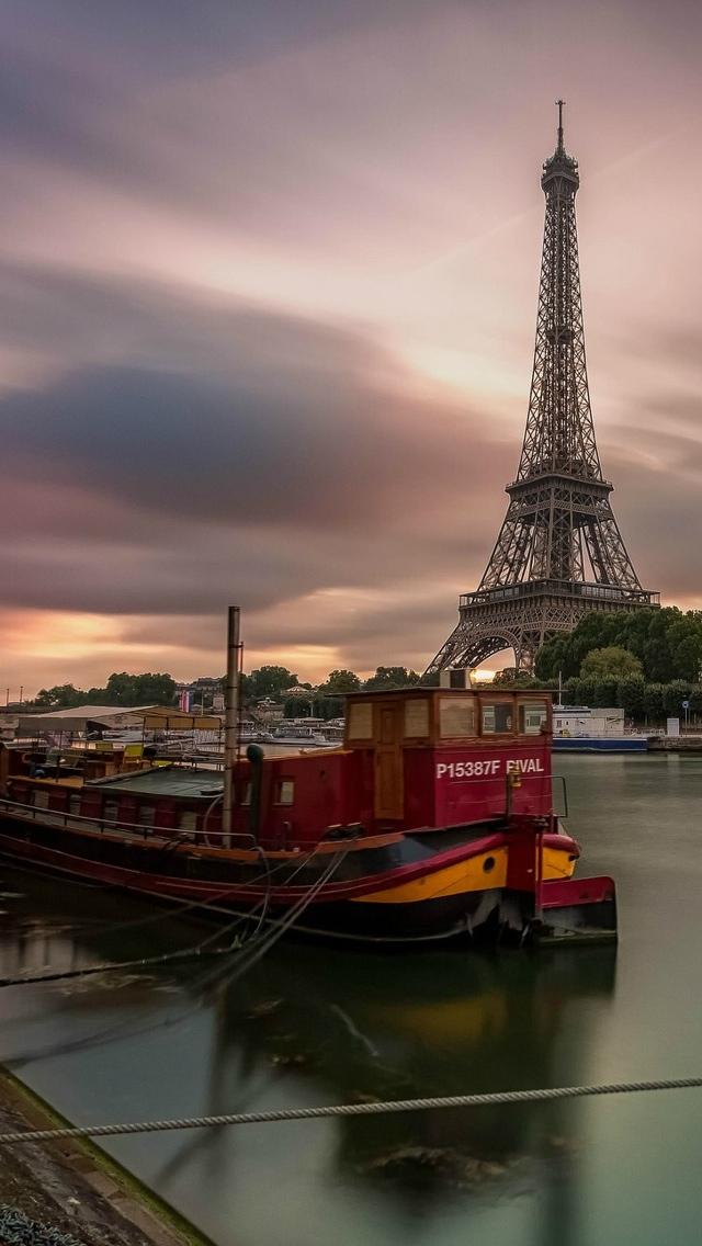 Eiffel Tower Paris iPhone 5 wallpaper 640*1136