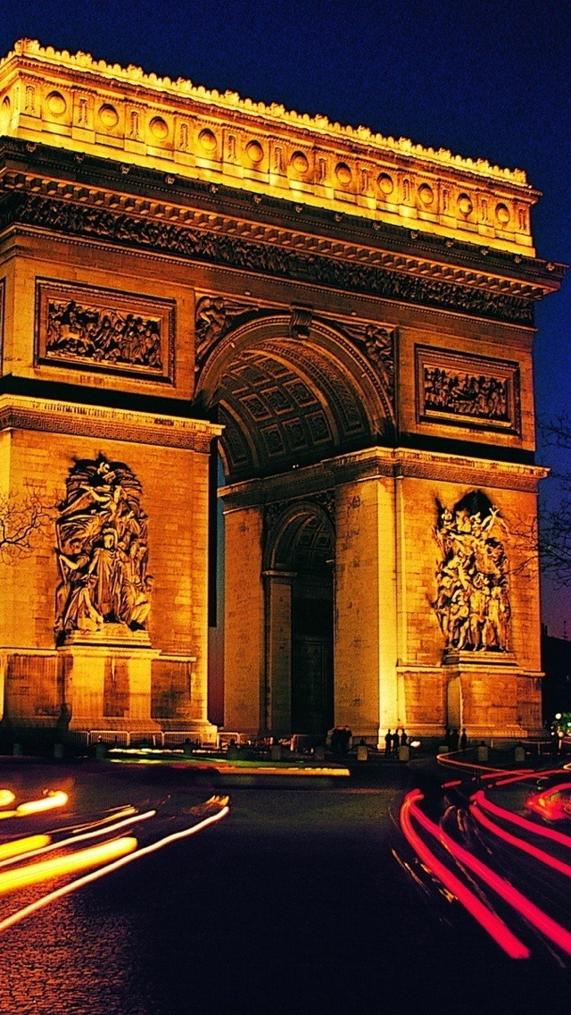 Paris Arc View iPhone 5 wallpaper 640*1136