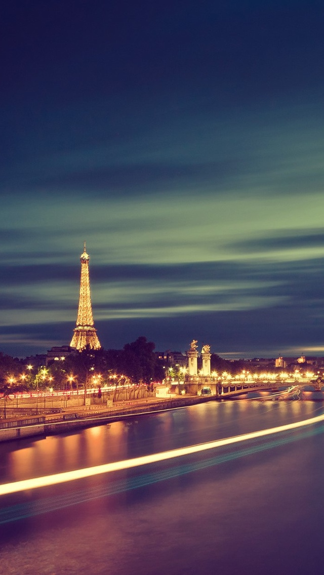Sienne and Eiffel Tower Paris iPhone 5 wallpaper 640*1136