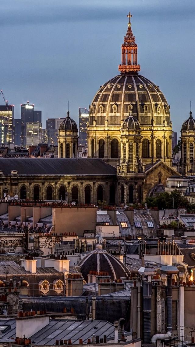 View of Paris iPhone 5 wallpaper 640*1136