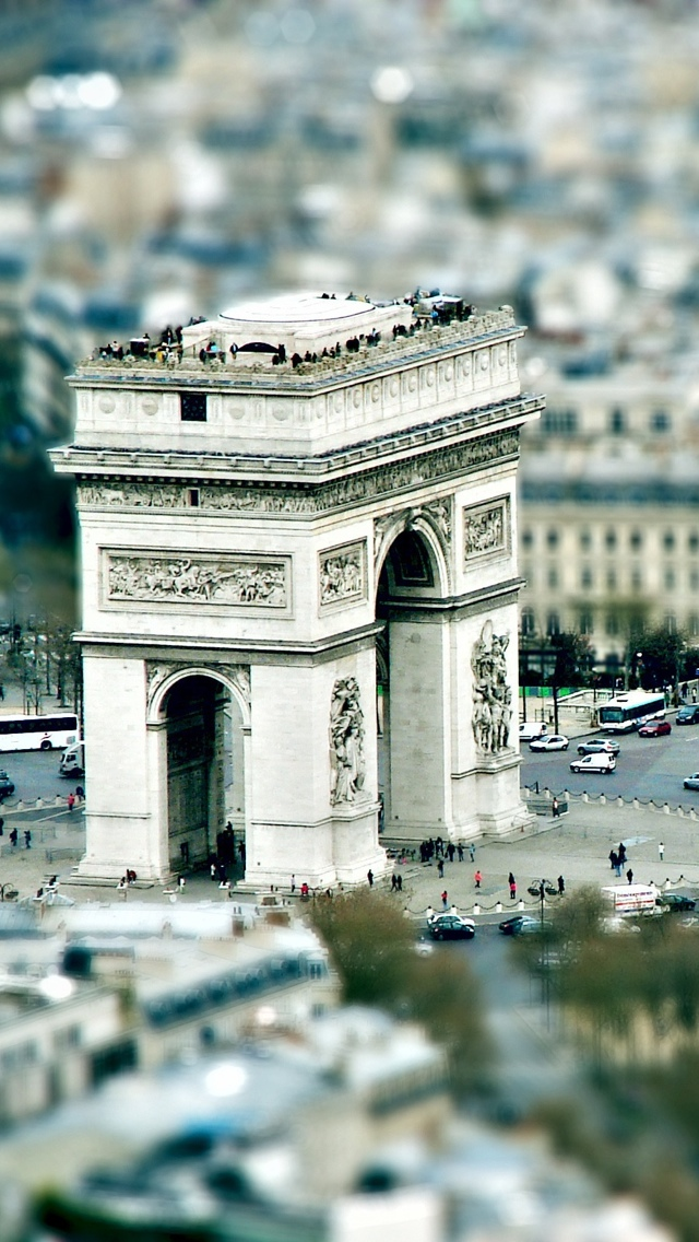 Arc de Triomphe in Paris iPhone 5 wallpaper 640*1136