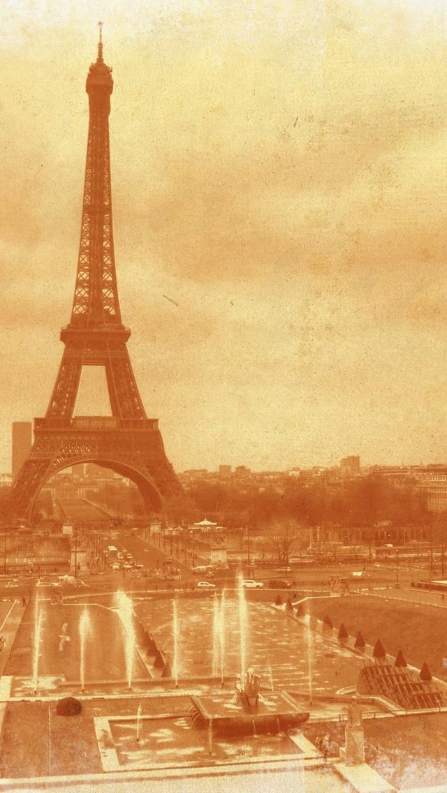 Antique Tower in Paris iPhone 5 wallpaper 640*1136