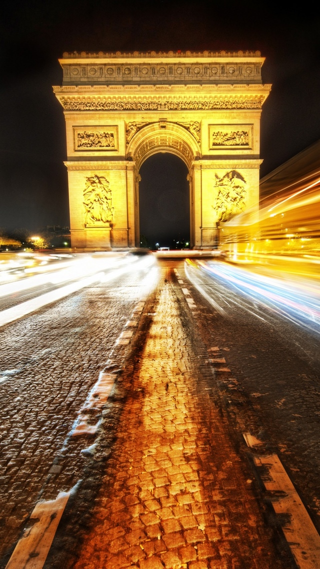 Paris Arc Triumph View iPhone 5 wallpaper 640*1136
