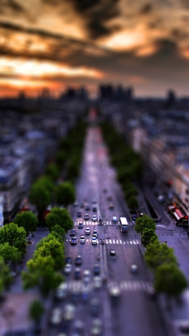 Paris boulevard iPhone 5 wallpaper 640*1136