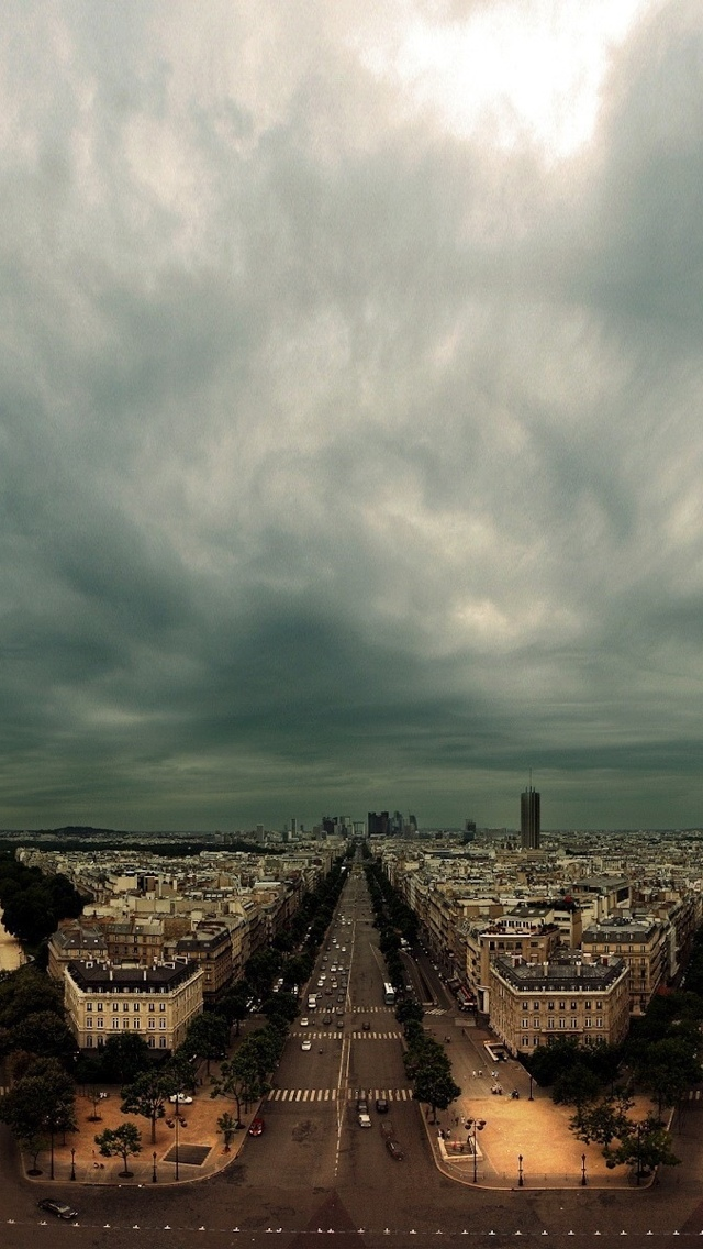 Streets of Paris iPhone 5 wallpaper 640*1136
