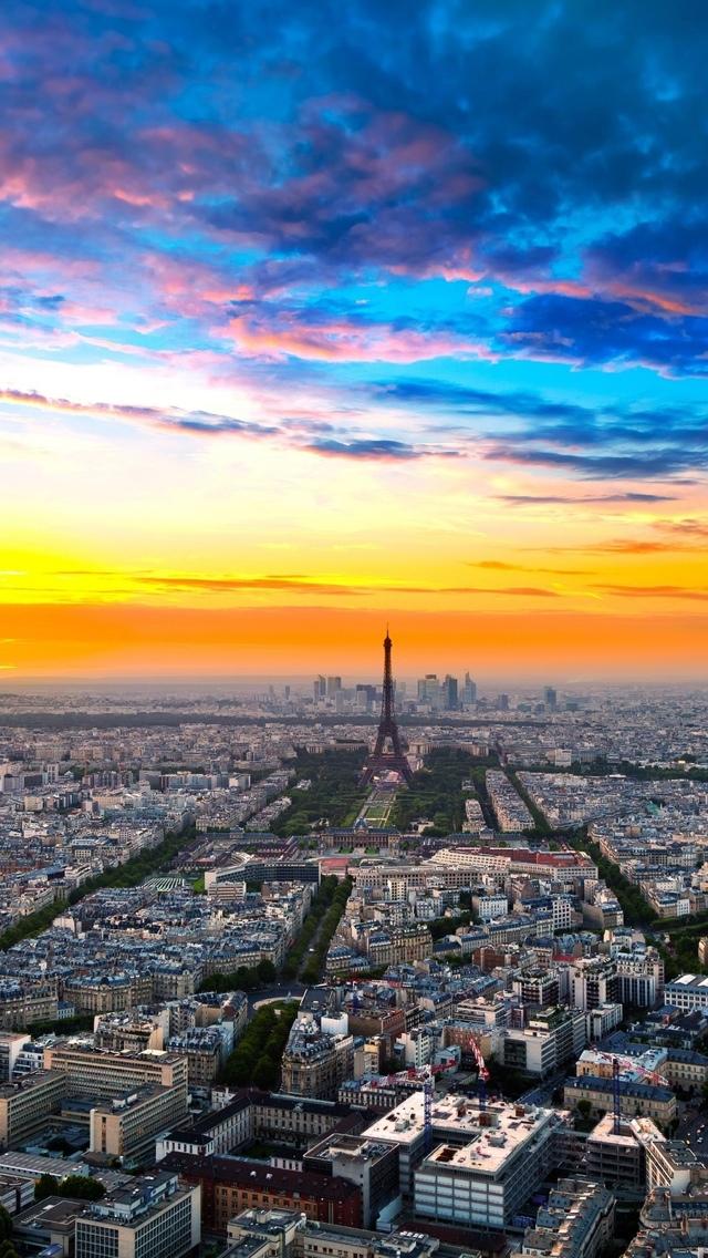 Birds Eye View Paris iPhone 5 wallpaper 640*1136