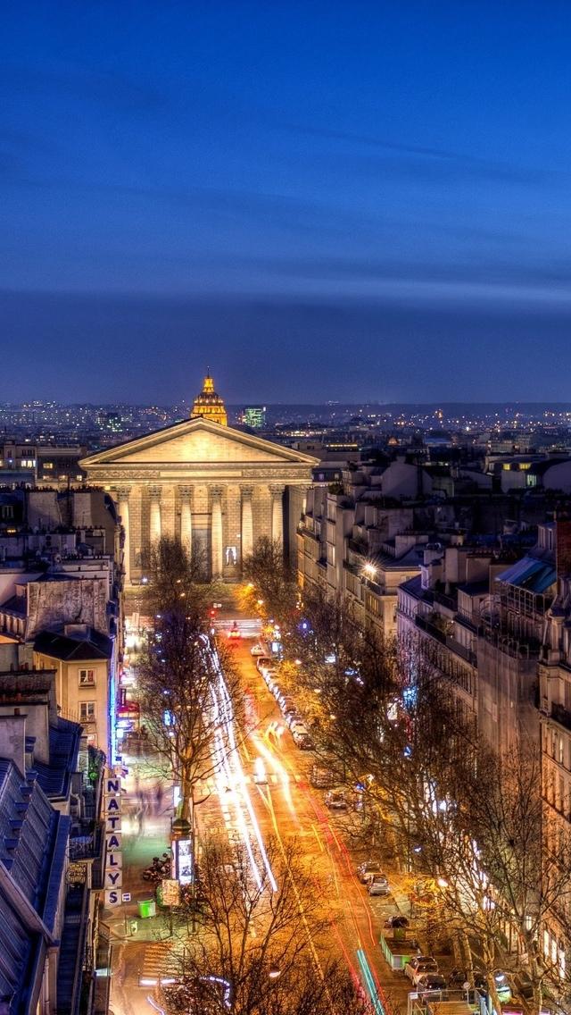 Night View Paris iPhone 5 wallpaper 640*1136