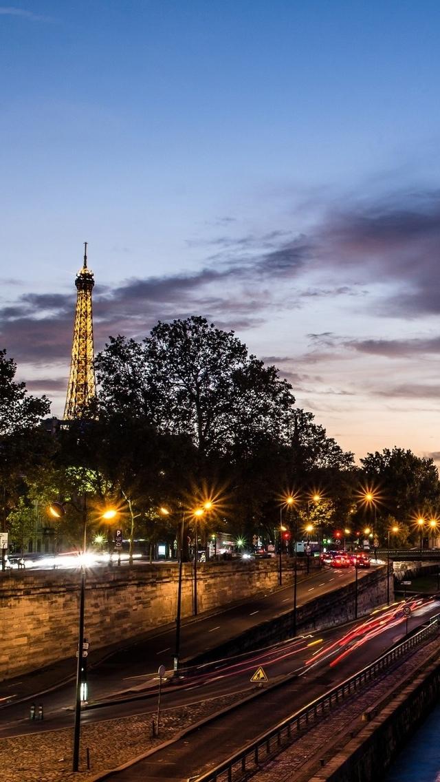 Paris Street View iPhone 5 wallpaper 640*1136