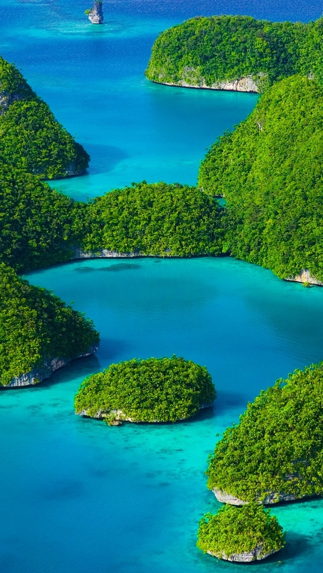 Islands Spring view iPhone 5 wallpaper 640*1136