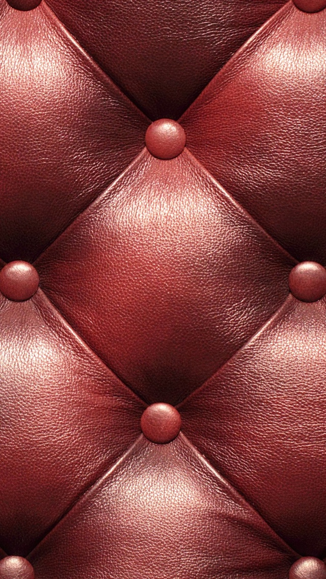 Red Leather Texture Wallpaper iPhone 5 640*1136
