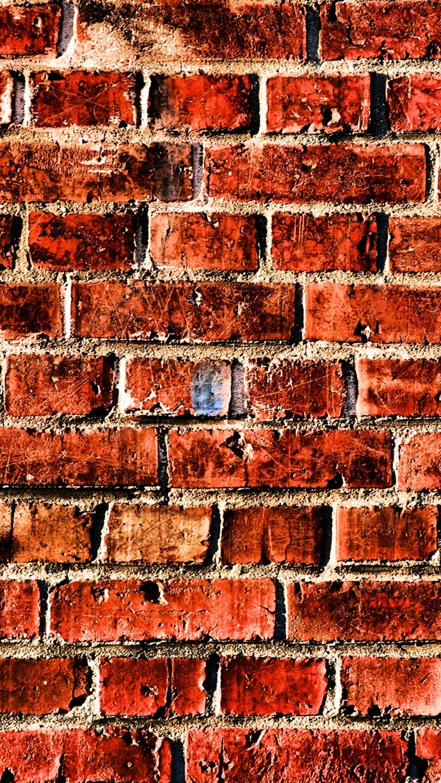 Red Brick Texture Wallpaper iPhone 5 640*1136