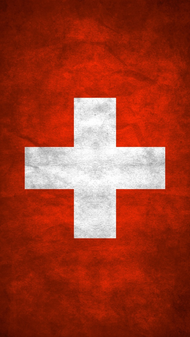 Swiss flag Wallpaper iPhone 5 640*1136
