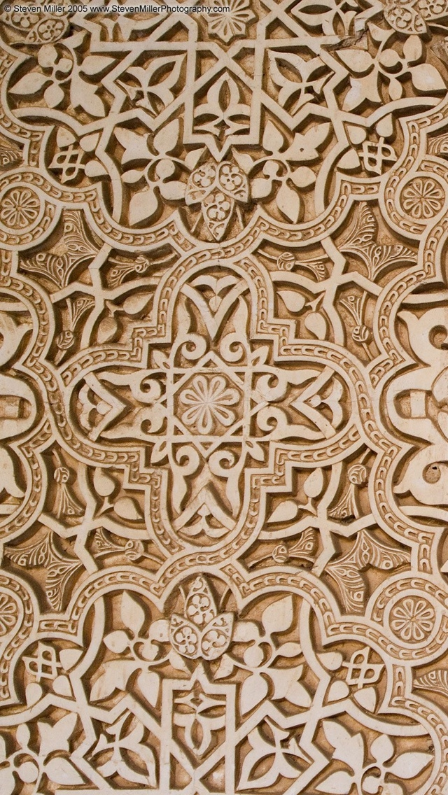 Arabic pattern Alhambra Texture Wallpaper iPhone 5 640*1136