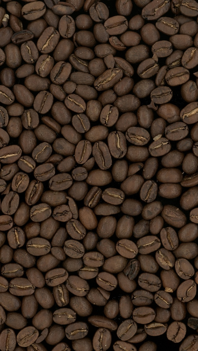 Coffee bean pattern Texture Wallpaper iPhone 5 640*1136
