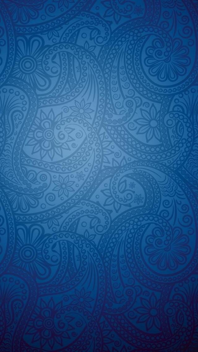 Blue Pattern Texture Wallpaper iPhone 5 640*1136