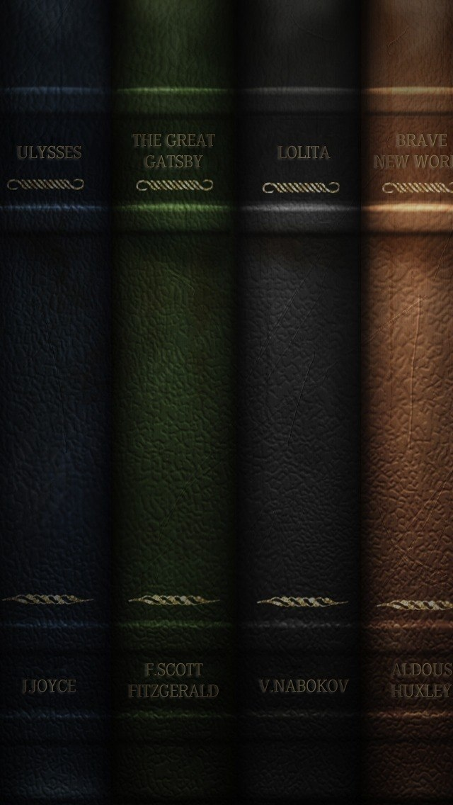 Books Pattern Texture Wallpaper iPhone 5 640*1136