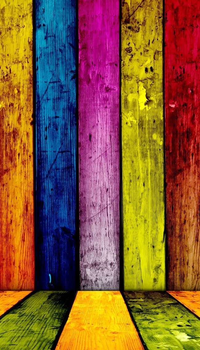Painted Wood Texture Wallpaper iPhone 5 640*1136
