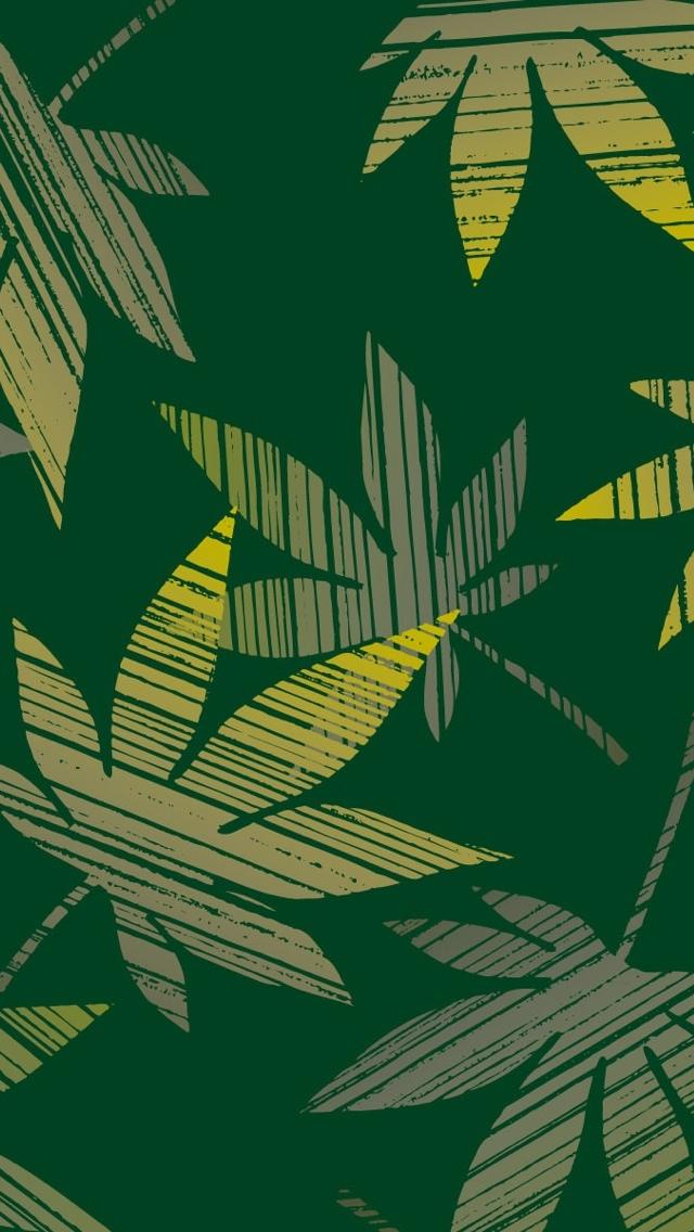 Green Leafs Texture Wallpaper iPhone 5 640*1136