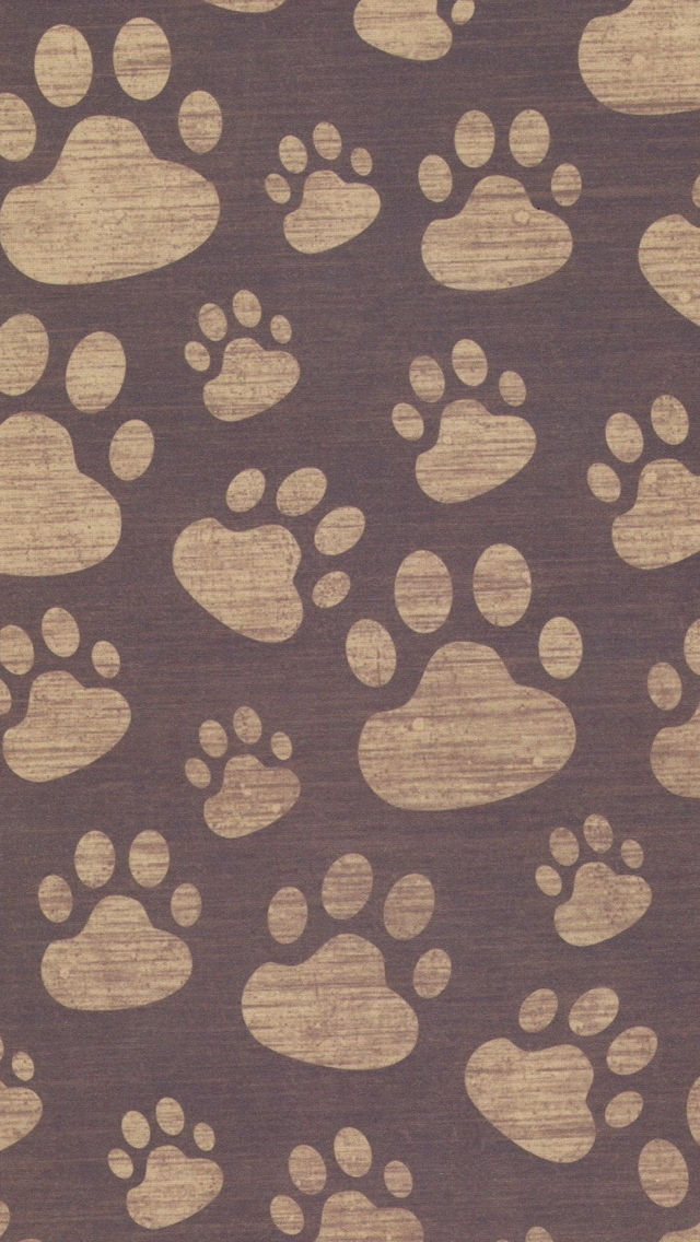 Paws Pattern Texture Wallpaper iPhone 5 640*1136
