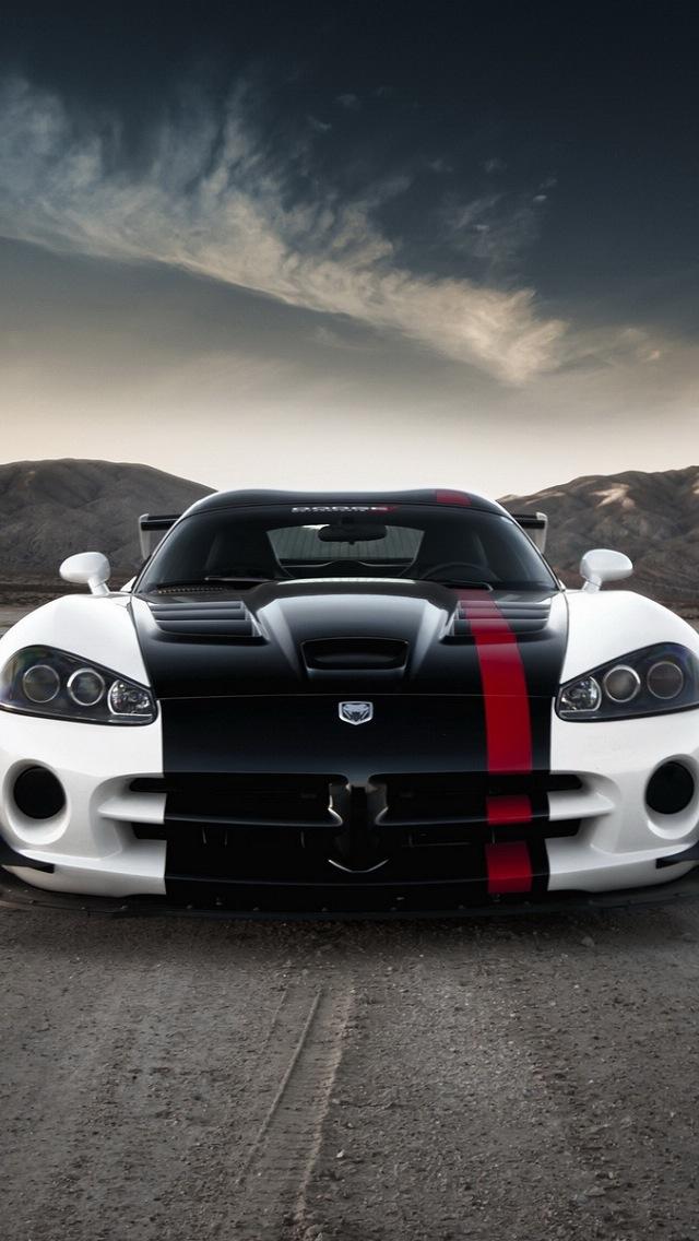 Perfect Dodge Viper ACR, Car Wallpaper, IPhone 5 HD Resolution 640x1136